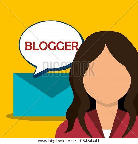 Blog and bloggers trend design, vector illustration graphic poster