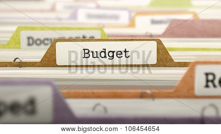 File Folder Labeled as Budget.
