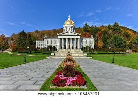 The State Capitol Building In Montpelier Vermont, Usa