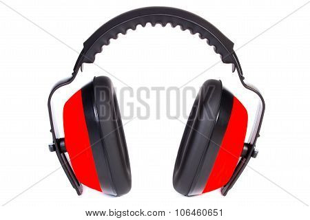 Protective Headphones On White Background
