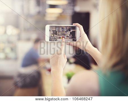 Cafe Coffee Shop Restaurant Small Business Media Concept