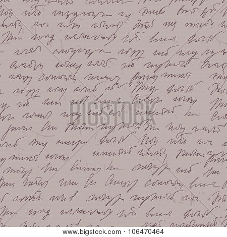 Abstract Handwritted Shorthand Seamless Pattern.
