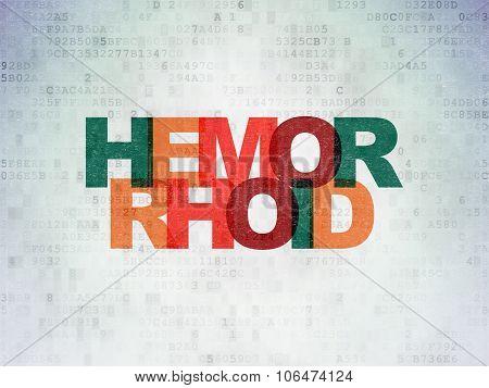 Healthcare concept: Hemorrhoid on Digital Paper background