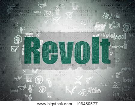 Political concept: Revolt on Digital Paper background