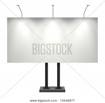 Billboard, Blank, Isolated On White With Clipping Path