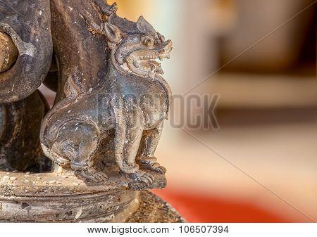 The Shwezigon Pagoda lion