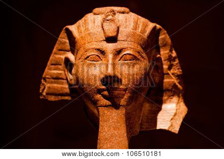 Mystic Stone Sculpture Of The Egyptian King