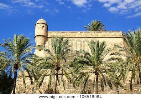 Museum Es Baluard facade in Palma de Mallorca.