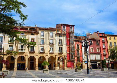 Way of Saint James Logrono Arcades in Mercado Plaza square La Rioja