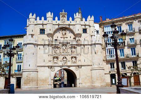 Burgos Arco de Santa Maria arch near Cathedral at Castilla Leon of Spain
