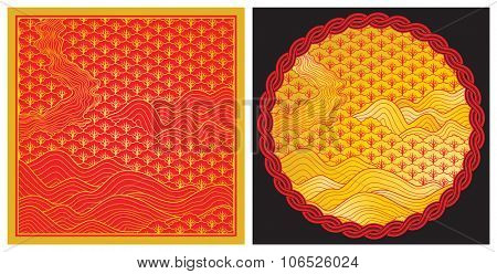 Chinese new year art background in vector illustration.