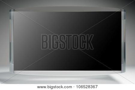 Futuristic Liquid Crystal Display Black Reflection