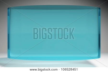 Futuristic Liquid Crystal Display Panel Sea Blue