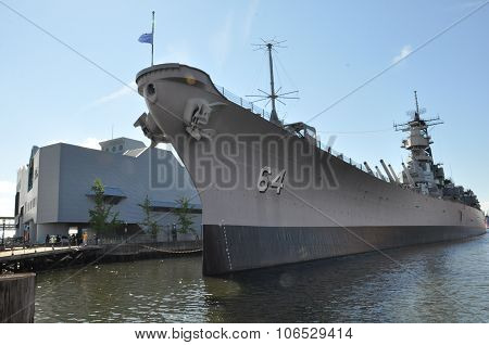 USS Wisconsin Battleship (BB-64) in Norfolk, Virginia