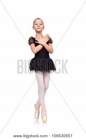Little Girl Dances Ballet