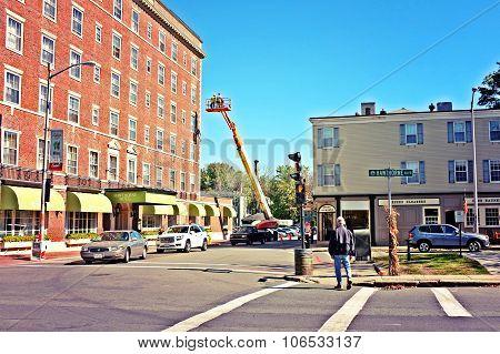Boom Crane Building Construction