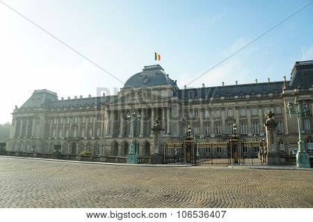 Royal Palace in Brussels (Palais Royal de Bruxelles, 1783 - 1934) - official palace of King and Queen of Belgians poster