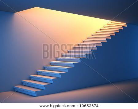 Treppe in die Zukunft.