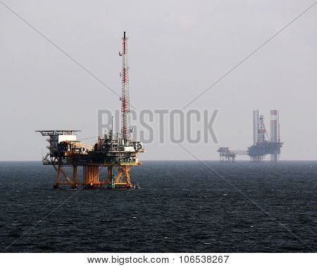 Gas Rig outside Galveston