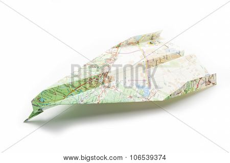 Map Origami Plane