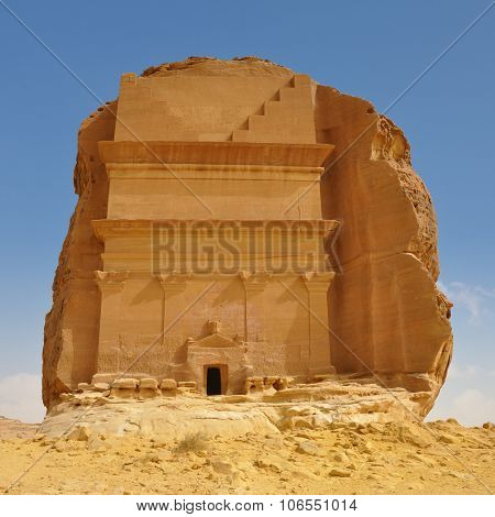 Tomb In Archeological Site Desert Landcape