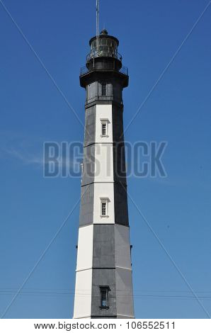 The new Cape Henry lighthouse at Fort Story in Virginia Beach, Virginia
