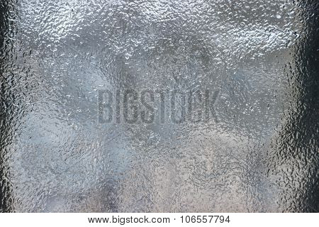 image of Frosted glass texture. colorful lights background