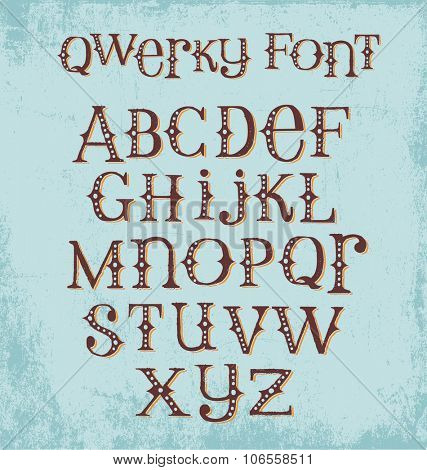 vintage quirky hand drawn font with mixed upper and lower case letters