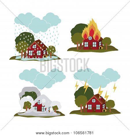 natural disaster design, vector illustration eps10 graphic poster