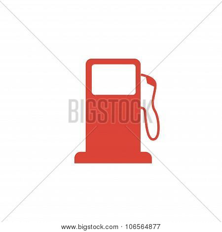 Gasoline pump nozzle sign. Gas station icon. Flat design style. poster