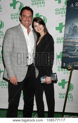 LOS ANGELES - OCT 29:  Mark Steines, Julie Freyermuth at the Global Green Book Lauch of