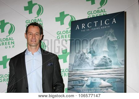 LOS ANGELES - OCT 29:  Sebastian Copeland at the Global Green Hosts Book Lauch of