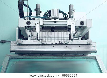 Retro Printing Press In The Silkscreen Printing Technique