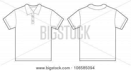 White Polo Shirt Design Template For Men