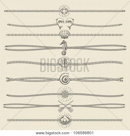 Hipster Style Hand Drawn Nautical Divider Set