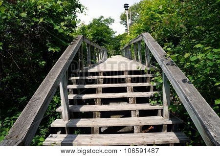 Stairs at the Top of the Boardwalk