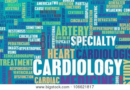 Cardiology or Cardiologist Medical Field Specialty As Art poster