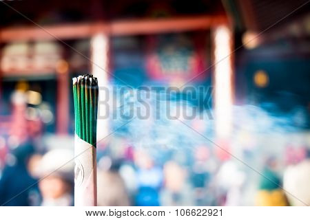 Burning Joss Stick and pray in new year