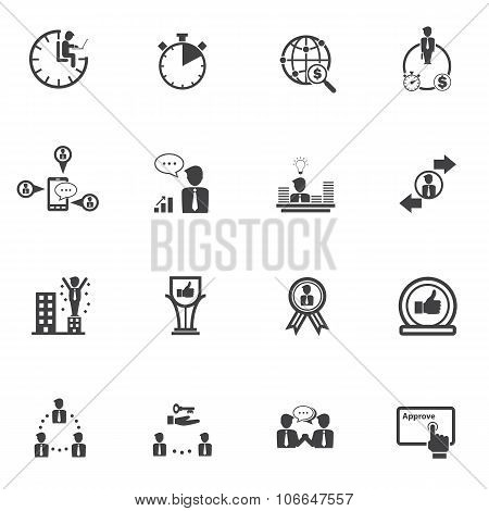 Business people and Finance Icons