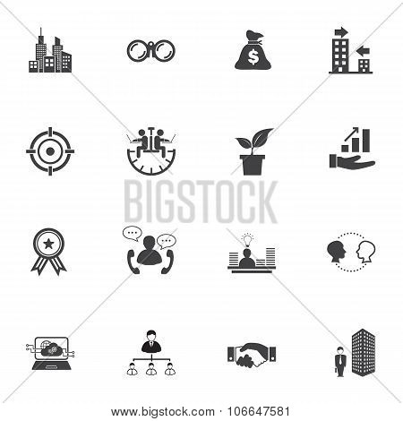 Growth of business Icons