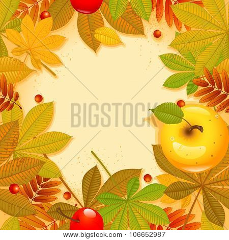 Autumn background with leaf. Happy thanksgiving day. eps 10