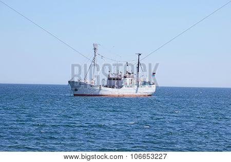 Baikal, Russia - July,26 2015: The Research Vessel G.y. Vereschagin On Lake Baikal