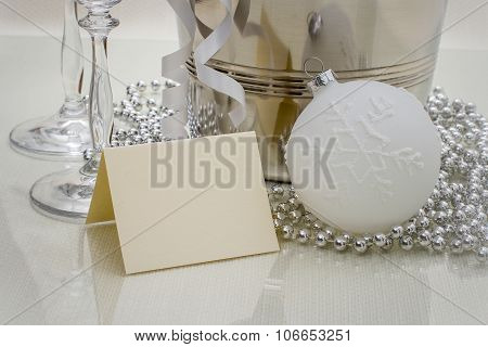 Congratulations Writing Card With Christmas Ball