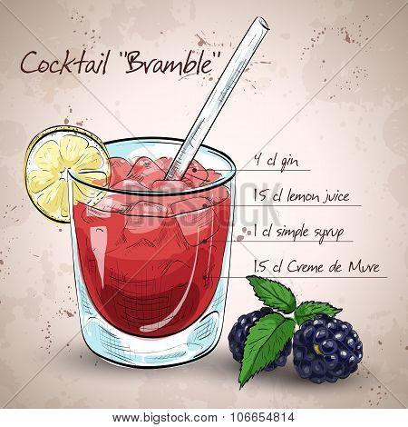 Alcoholic cocktail Bramble