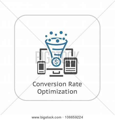 Conversion Rate Optimisation Icon.