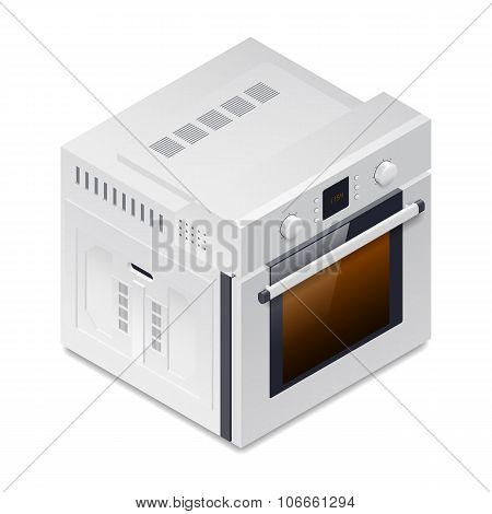 Inline Oven Detailed Isometric Icon