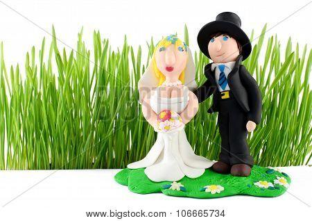Wedding Figurine Isolated On White