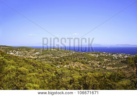 panoramic view of Aegina Greece