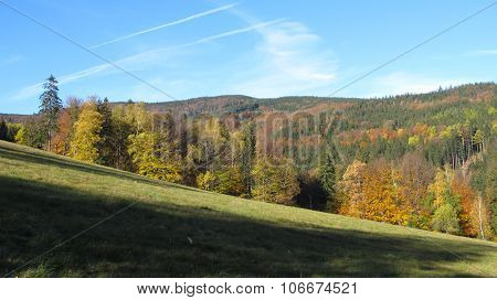 Beskydy mountains in autumn