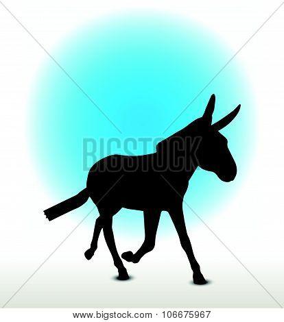 Donkey Silhouette